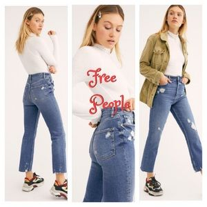 Free People | We The Free High Slim Straight Jeans